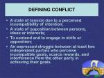 defining conflict