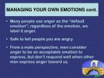 managing your own emotions cont