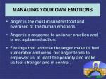 managing your own emotions