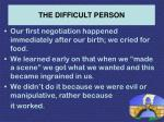 the difficult person46