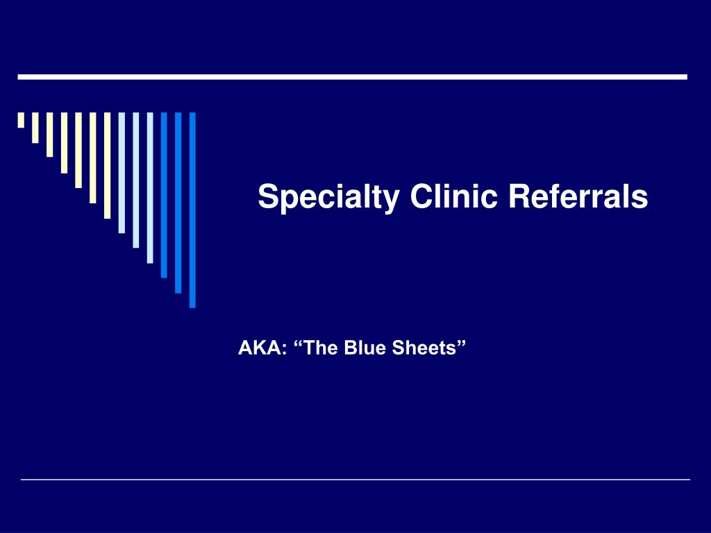 specialty clinic referrals l.