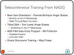 teleconference training from nadg