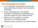the ombudsman role
