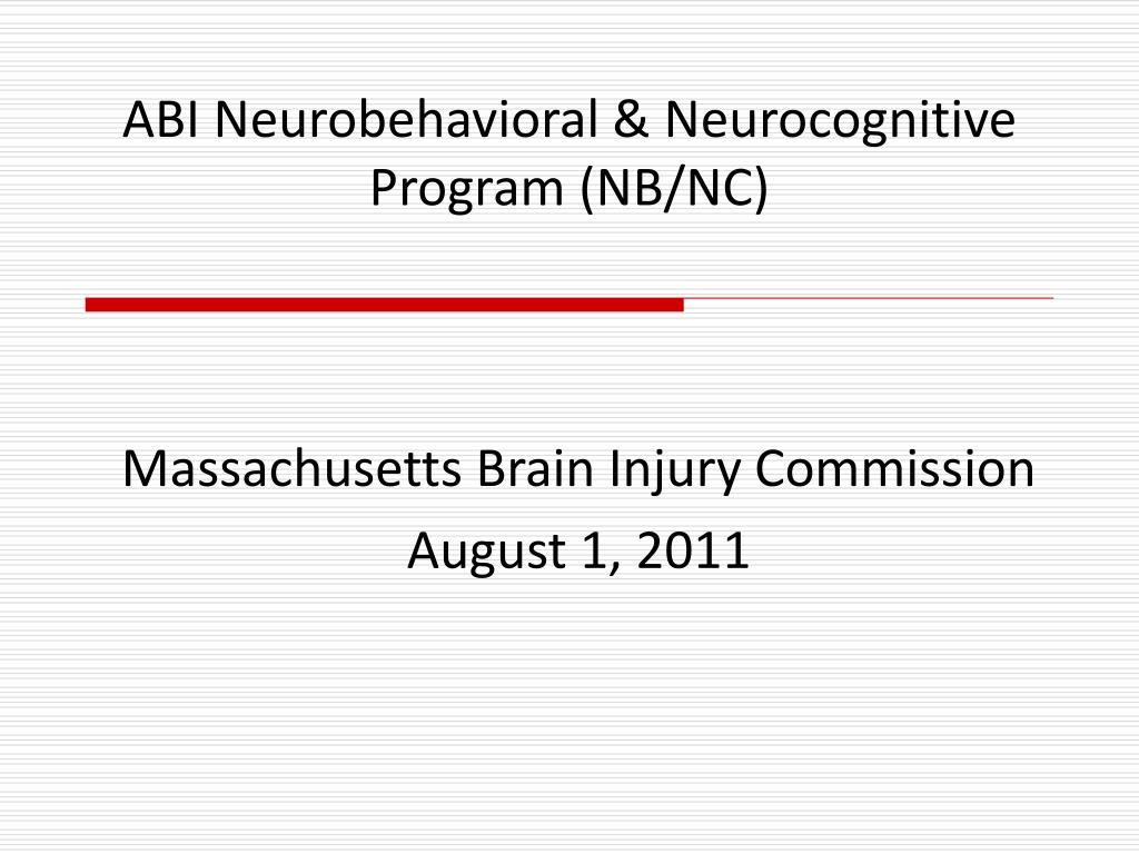 abi neurobehavioral neurocognitive program nb nc l.