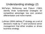 understanding strategy 2