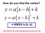 how do you find the vertex