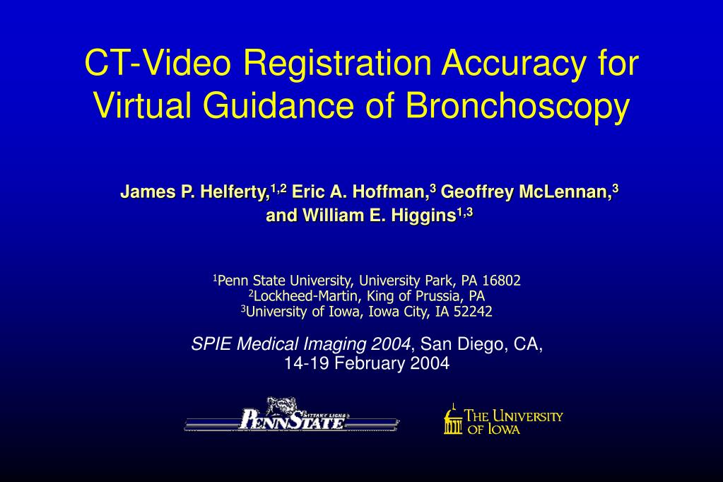 ct video registration accuracy for virtual guidance of bronchoscopy l.