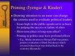 priming iyengar kinder