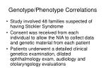 genotype phenotype correlations