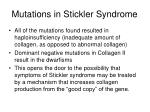 mutations in stickler syndrome