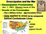 emancipation and the war14