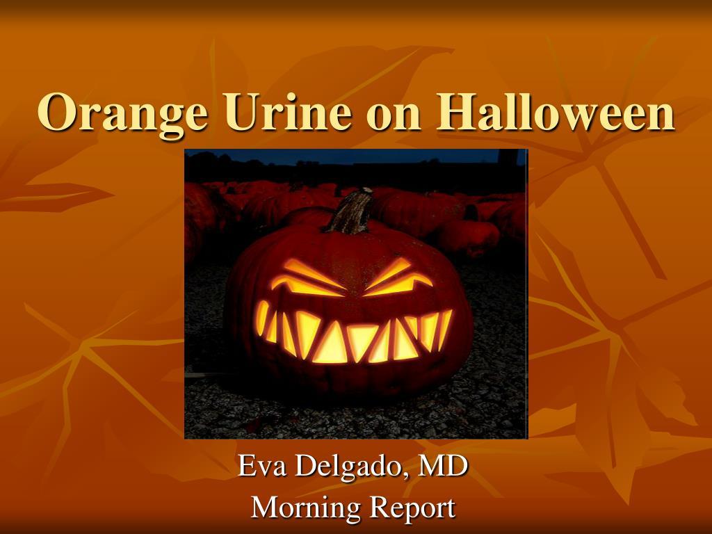 ppt orange urine on halloween powerpoint presentation id 715954