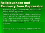 religiousness and recovery from depression