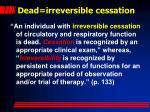 dead irreversible cessation