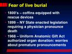 fear of live burial