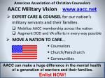 american association of christian counselors aacc military vision www aacc net