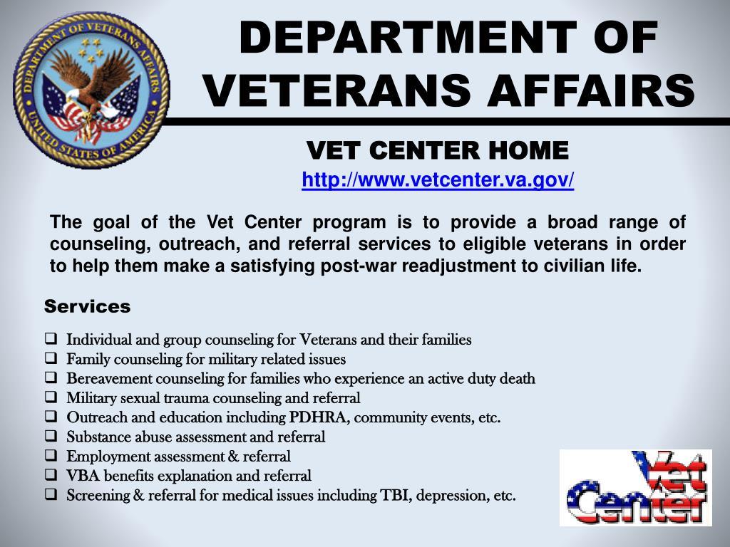 department of veterans affairs l.