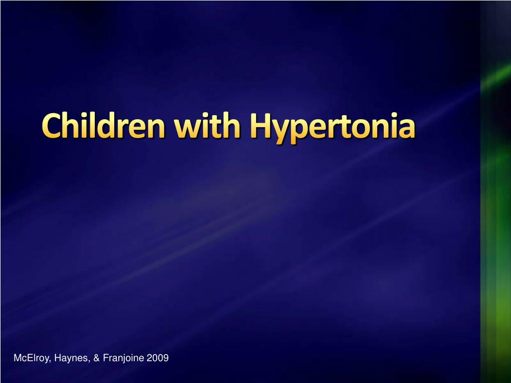 children with hypertonia l.