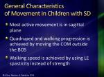 general characteristics of movement in children with sd81