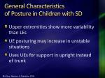 general characteristics of posture in children with sd
