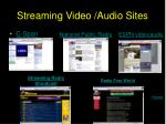 streaming video audio sites