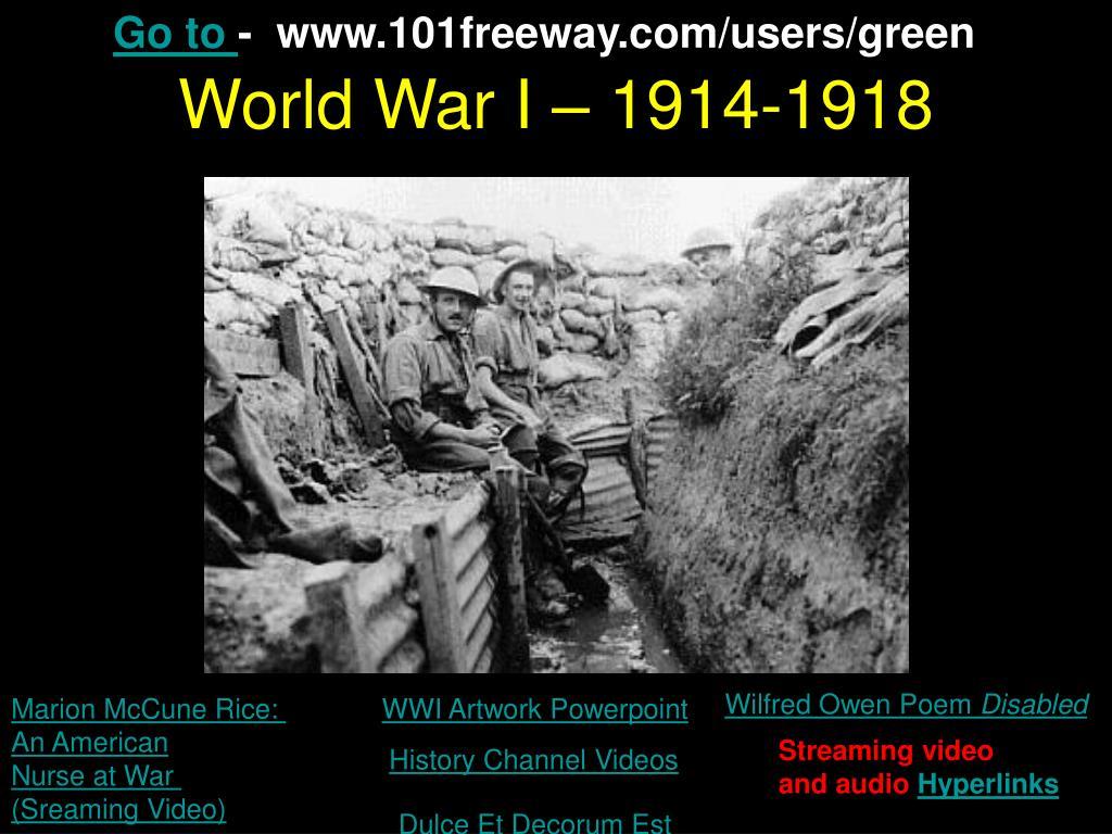 world war i 1914 1918 l.