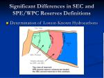 significant differences in sec and spe wpc reserves definitions20