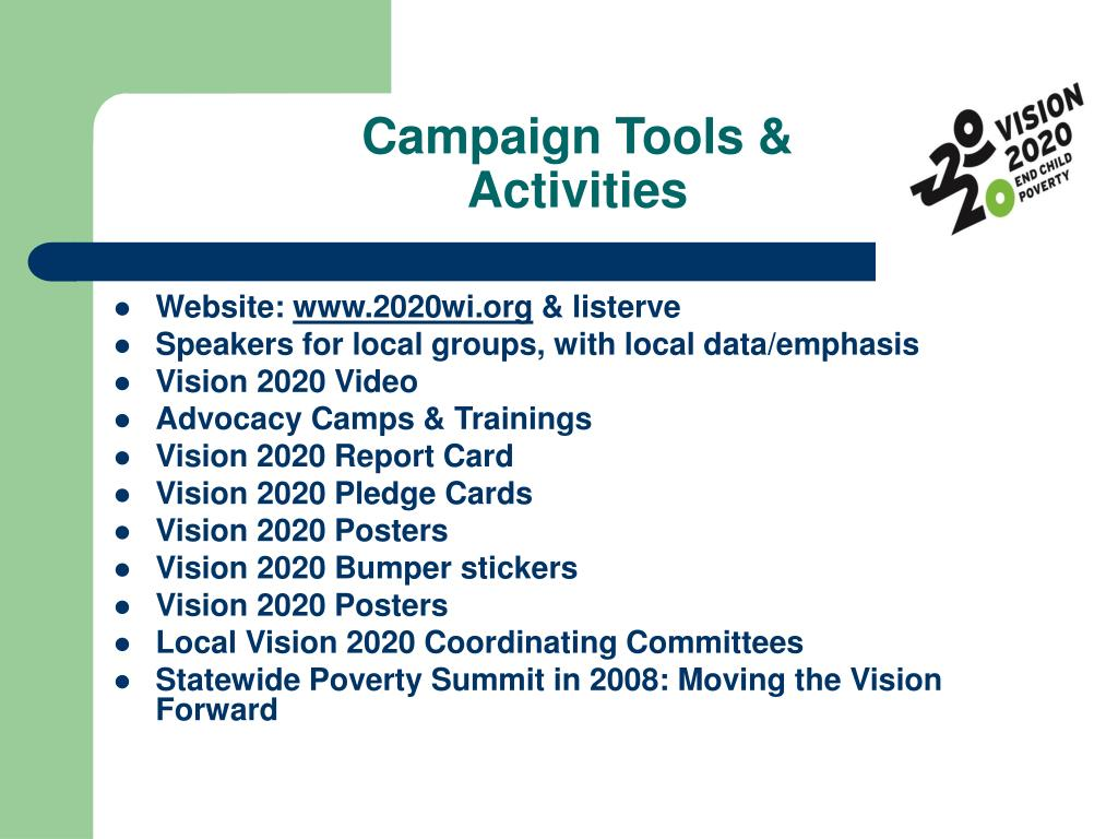 Campaign Tools &