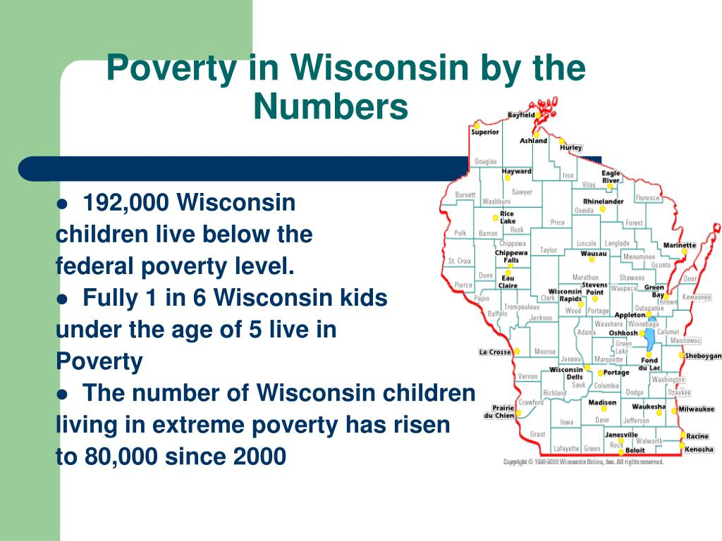 Poverty in Wisconsin by the Numbers