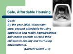 safe affordable housing