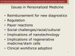 issues in personalized medicine