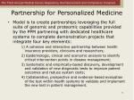 partnership for personalized medicine12