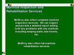 manhole inspection and rehabilitation services