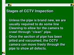 stages of cctv inspection