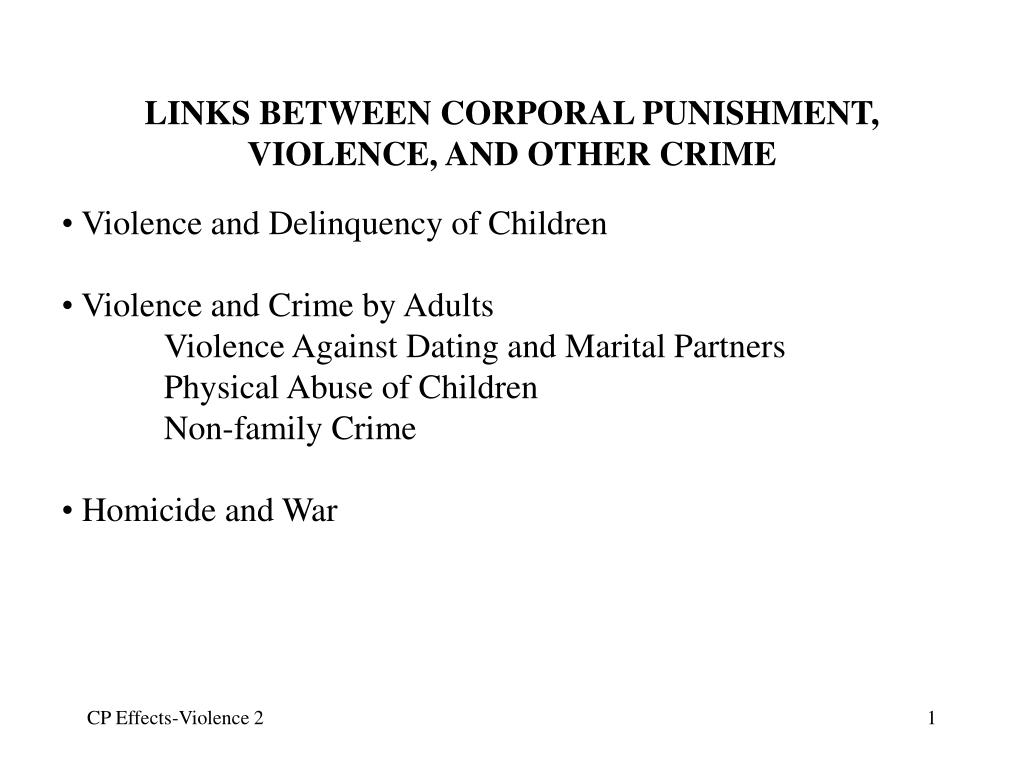 links between corporal punishment violence and other crime l.