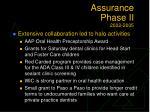 assurance phase ii 2002 200519