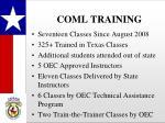 coml training