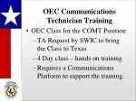 oec communications technician training
