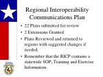 regional interoperability communications plan