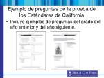 ejemplo de preguntas de la prueba de los est ndares de california