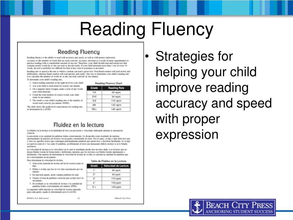Strategies for helping your child improve reading accuracy and speed with proper expression