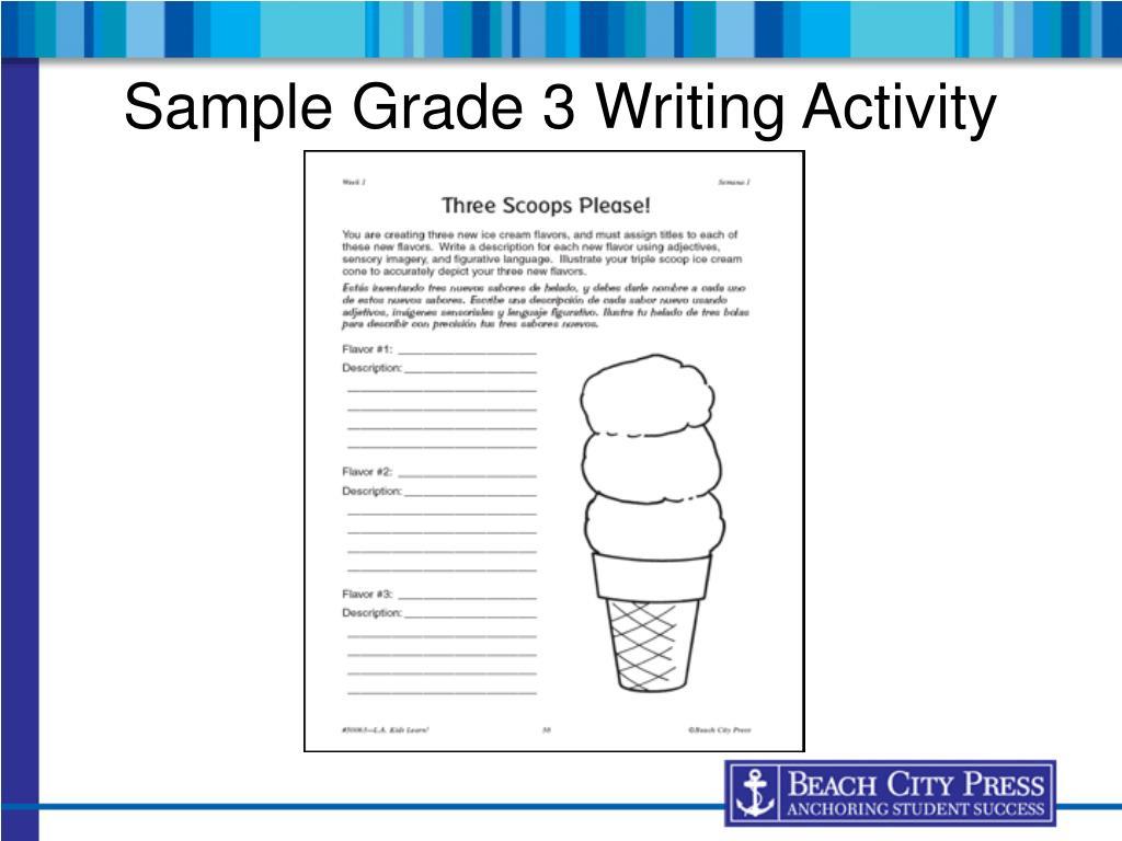 Sample Grade 3 Writing Activity