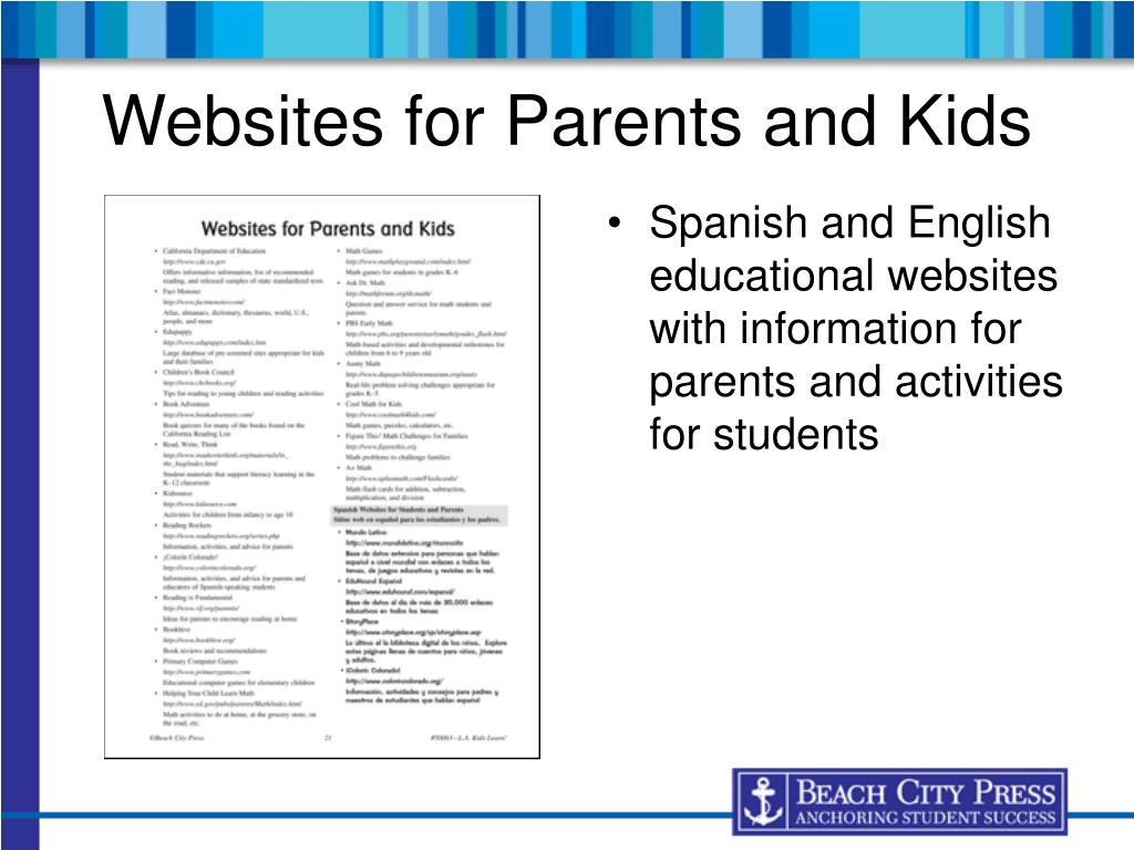 Websites for Parents and Kids