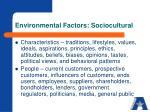 environmental factors sociocultural