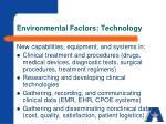 environmental factors technology