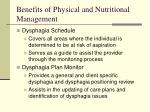 benefits of physical and nutritional management160