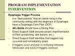 program implementation intervention127