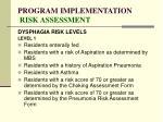program implementation risk assessment86