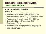 program implementation risk assessment87