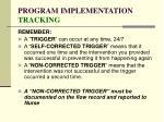 program implementation tracking153